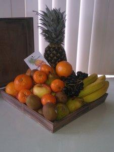 cadeau fruit dienblad