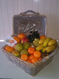 cadeau fruitmand grijs xl