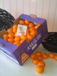 Kist mandarijnen